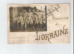 LORRAINE CARTE PHOTO DES POILUS DE DE LA 17 EME CIE 3 EME ESC DU 344 EME (REGIMENT D'INFANTERIE) 1916 CROIX DE LORRAINE - Weltkrieg 1914-18
