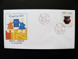 Cover China Olympic Games Athens 2004 Greece Olymphilex Special Cancel - Briefe U. Dokumente