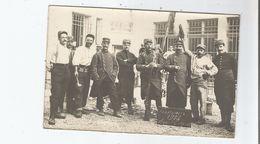 MILITAIRES CARTE PHOTO AVANT LE DEPART CAMPAGNE 1914 (GUERRE 1914 1918) - Weltkrieg 1914-18