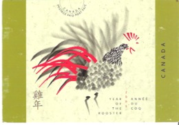 Canada 2005 Year Of The Rooster  Annee Du Coq Postage Paid Port Paye - Stamps (pictures)