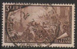 1948 - Rirorgimento - 3 Lire - Sassone 580 - 6. 1946-.. Repubblica