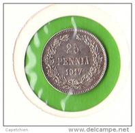 FINLANDE / 25 PENNIÄ / WITH CROWN / 1917   - BEL ETAT / SUP - Finlande