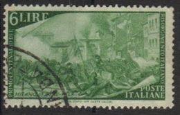1948 - Rirorgimento - 6 Lire - Sassone 583 - 6. 1946-.. Repubblica