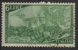 1948 - Rirorgimento - 6 Lire - Sassone 583 - 1946-60: Used