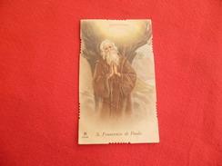 Santino San Francesco Di Paola Fustellato - Imágenes Religiosas