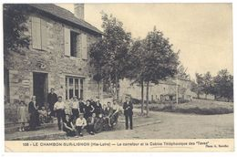 """Cpa Le Chambon Sur Lignon - Le Carrefour Et La Cabine Téléphonique Des """"Tavas""""    ( S2068) - Le Chambon-sur-Lignon"""