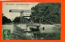 10 Pont Sur Seine : Le Pont Levis Sur Le Canal - France