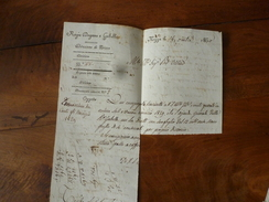 1830 Regie Dogane E Gabelle ,Direzione Di Nizza NICE ->TRES IMPORTANT :VOIR DESCRIPTION  Annonce Transférée  à 466565396 - Manoscritti
