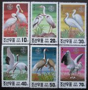KOREA NORTH 1991 ENDANGERED BIRDS SC# 2971-76 Vögel Mi# 3174-79 MNH Postfrisch 1251 - Birds