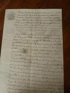 1850 ACTE Notarié Concernant Louis Armieux Avec Filigrane, Cachet Sec Et Cachet Mouillé - Manoscritti