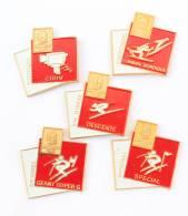 Lot De 5 Pin's JO D'HIVER ALBERTVILLE 92 - Stations Et Disciplines Sportives - Cojo 1991 - G746 - Pin's