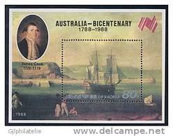 COREE NORD 2816 Bicentenaire De L'Australie - Explorers