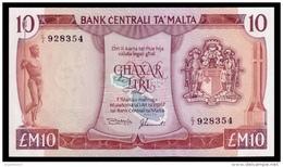 Malta 10 Lira 1967 (1973) P.33b UNC - Malta