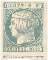 ESPAÑA YVERT ET TELLIER NRO. 16 COTE 3300 EUROS AÑO 1852 ISABELLE II(1830-1904) LITOGRAPHIE FALSCHE FALSO - 1850-68 Kingdom: Isabella II