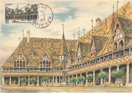 D31154 CARTE MAXIMUM CARD 1953 FRANCE - HOTEL-DIEU DE BEAUNE CP ORIGINAL - Architecture