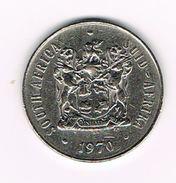 )   ZUID AFRIKA  50 CENT  1970  BILINGUAL  LEGEND - Afrique Du Sud