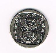 )  ZUID AFRIKA  1 RAND 2007 - Afrique Du Sud