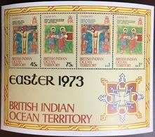 British Indian Ocean BIOT 1973 Easter Minisheet MNH - British Indian Ocean Territory (BIOT)