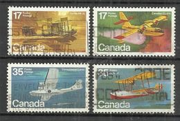 CANADA 1979 - CANADIAN AIRCRAFT - 1st SERIES - CPL. SET - USED OBLITERE GESTEMPELT USADO - Avions