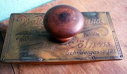 "Stempelwiege ""Schirmfabrik Weiler & Dickmann"", Cöln Um 1910 - Andere Sammlungen"