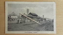 COURT-SAINT-ETIENNE - La Gare -  1915 - Rare - Court-Saint-Etienne