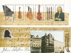"2000 Belgium Belgique Bach Instruments Complete Booklet Carnet ""unexploded""  VF MNH BELOW FACE VALUE - Muziek"