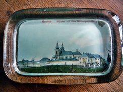 """Briefbeschwerer """"Grulich"""" Mit Kloster Auf Dem Muttergottesberg - Glas & Kristall"""