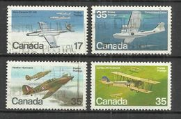 CANADA 1979 - CANADIAN AIRCRAFT - 2nd SERIES - CPL. SET - USED OBLITERE GESTEMPELT USADO - Avions