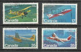 CANADA 1979 - CANADIAN AIRCRAFT - 3rd SERIES - CPL. SET - USED OBLITERE GESTEMPELT USADO - Avions