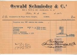 Invoice * Portugal * Lisboa * 1903 * Oswald Schmieder & Cª - Portugal