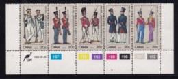 CISKEI, 1983, MNH Stamps In Control Blocks. Militair Uniforms , MI Nr. 47-51,  X145A - Ciskei
