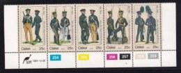 CISKEI, 1984, MNH Stamps In Control Blocks. Militair Uniforms , MI Nr. 65-69,  X151 - Ciskei