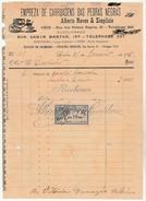 Invoice * Portugal * Lisboa * 1905 * Empreza De Carruagens Das Pedras Negras - Portugal