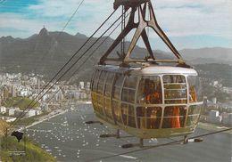 Amérique- Brésil- BRASIL RIO De JANEIRO (2)    Teleferico Téléphérique Cable Car Aerial Cableway Teleferica*PRIX FIXE - Brazil