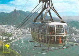 Amérique- Brésil- BRASIL RIO De JANEIRO (1)    Teleferico Téléphérique Cable Car Aerial Cableway Teleferica*PRIX FIXE - Brazil