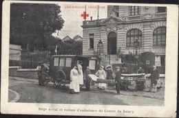 FRANCE CPA Croix Rouge Française Siège Social Et Voiture D'ambulance Du Comité De Raincy 93 Seine St Denis Guerre 14 18 - Rotes Kreuz
