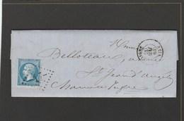 Charente - Aigre - GC17 Sur N°22 - LAC De Mai 1863 - Marcophilie (Lettres)