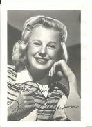 RB - June Allyson - Niet Gelopen Kaart - Lot Nr. 771 - Autographes