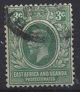 East Africa And Uganda Protectorates 1912-21  3c  (o) - Kenya, Uganda & Tanganyika
