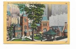 NEW YORK CITY THE LITTLE CHURCH AROUND THE CORNER 1954 VIAGGIATA FP - Churches