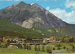 CPSM AUTRICHE  TELFS  Badeanlage Mit Hohe Munde  Dans Le Tirol - Vue Générale - Telfs