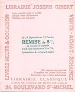Buvard Librairie Joseph Gibert Livres Neufs Et Occasion ( Pliures, Taches  ) 16 Cm X 20 Cm - Buvards, Protège-cahiers Illustrés