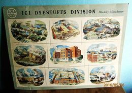 "Blechschild ""ICI Dyestuffs Division"" Blackley Manchester - Reklameschilder"