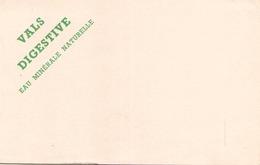 Buvard  Vals Digestive Eau Minérale ( Pliures ) 21 Cm X 13,5 Cm - Blotters
