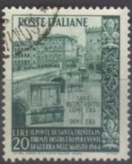 1949 - Ricostruzione Ponte S.Trinita A Firenze - Sassone N. 613 - 6. 1946-.. Repubblica