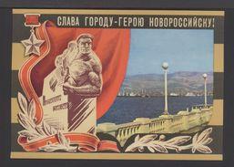 1975.  USSR. Postcard. Glory To The Hero City Of Novorossiysk! Embankment, Ships. Star Of The Heroes. V.Panov. XI-4268. - Monuments