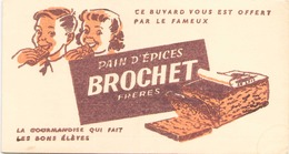 Buvard  Pain D'épices Brochet Frères ( Pliures, Taches ) 21 Cm X 12 Cm - Gingerbread