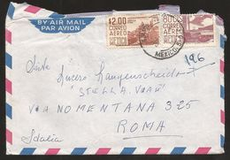 A) 1965 MEXICO, MODERN ARCHITECTURE MX D.F, GUERRERO CITY, CIRCULATED COVER FROM MEXICO D.F TO ROME. - Mexico