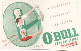 Buvard  O'Bull L'eau Pétillante En Sachets ( Pliures ) 21 Cm X 13,5 Cm - Blotters