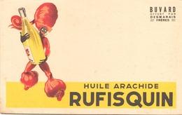 Buvard  Huile D'arachide Rufisquin ( Taches Pliures  ) 21 Cm X 13 Cm - H
